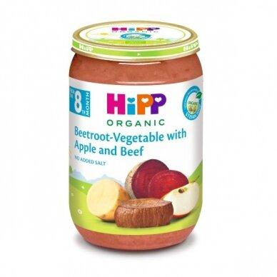 BIO Burokėliai, daržovės su obuoliais ir jautiena