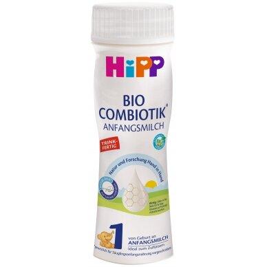 HiPP 1 BIO COMBIOTIK® Ekologiškas pradinio maitinimo pieno mišinys kūdikiams nuo gimimo. Paruoštas vartoti.